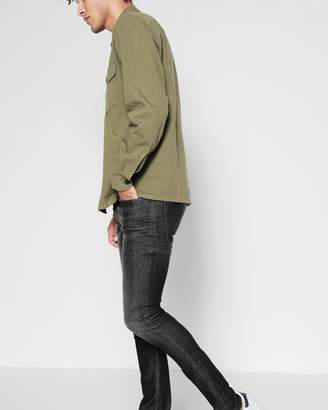 7 For All Mankind Cashmere Denim Slimmy in Washed Black