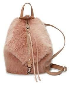 Rebecca Minkoff Faux Fur Convertible Mini Julian Backpack