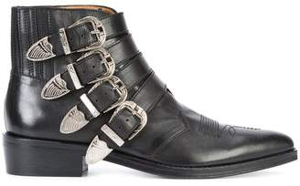 Toga buckled boots