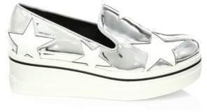 Stella McCartney Binx Metallic Star Platform Wedge Sneakers
