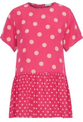 RED Valentino Polka-Dot Silk Crepe De Chine Mini Dress