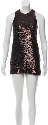 Tory Burch Sleeveless Sequin Mini Dress