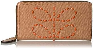 Orla Kiely Laced Stem Leather Big Zip Wallet Wallet