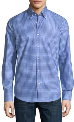 Neiman Marcus Check-Print Sport Shirt