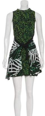 Proenza Schouler Digital Print Silk Sleeveless Dress