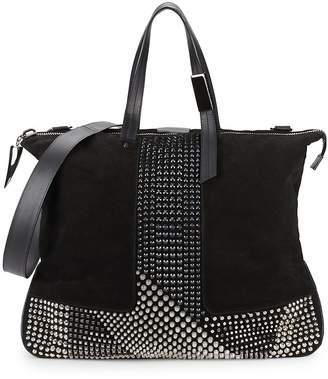 Giuseppe Zanotti Studded Leather Top Handle Bag