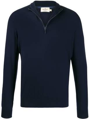 Hackett zipped elbow-patch pullover