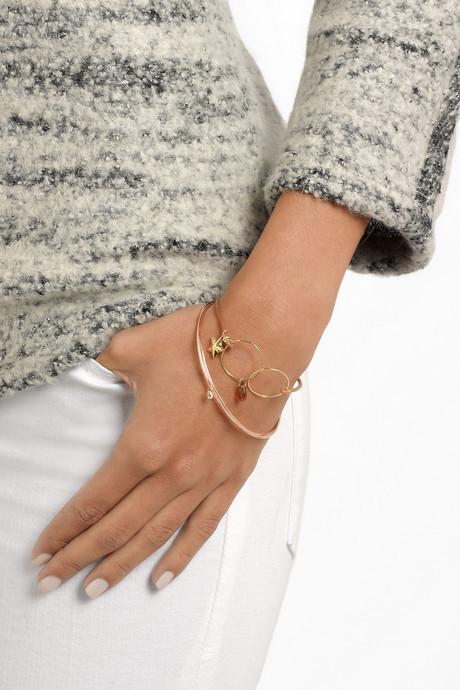 18-Karat Gold, Amber Tourmaline And Leather Bracelet