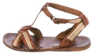 Etoile Isabel Marant Leather Jute-Trimmed Sandals