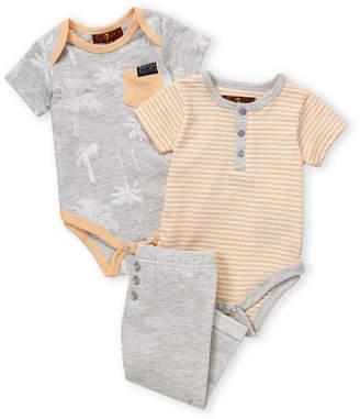 7 For All Mankind Newborn Boys) 3-Piece Palm Bodysuit & Pants Set