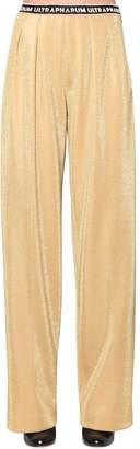 Marco De Vincenzo Lurex Techno Jersey Wide Leg Pants