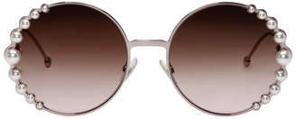Fendi Pink Ribbons and Pearls Sunglasses