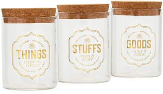 Fred & Friends Stashed Storage Jars, Set of 3