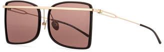 Calvin Klein Acetate & Metal Aviator-Style Sunglasses