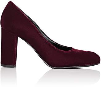 Barneys New York Women's Chunky-Heel Velvet Pumps