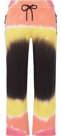 Off-Whitetm Printed Tie-Dyed French Cotton-Terry Track Pants