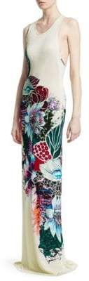 Roberto Cavalli Sleeveless Floral Maxi Dress