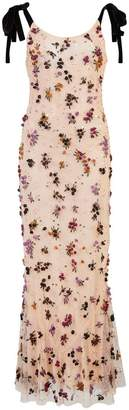 ATTICO floral embellished long dress