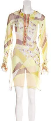 Emilio Pucci Semi-Sheer Long Sleeve Tunic