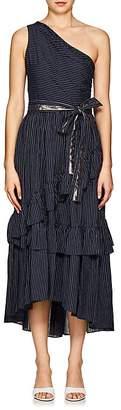 Ulla Johnson Women's Amber Striped Cotton One-Shoulder Dress
