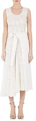 Victoria Beckham Women's Smocked Gauze Wrap Dress - White