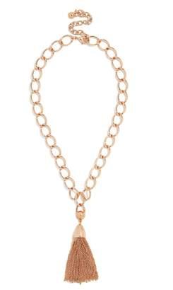 BaubleBar Chain-Link Tassel Pendant Necklace