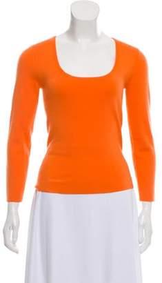 Michael Kors Scoop-Neck Cashmere Sweater Orange Scoop-Neck Cashmere Sweater