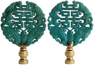 Double Happiness Lamp Finials