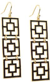 Trina Turk Tiered Brick Earrings In Black