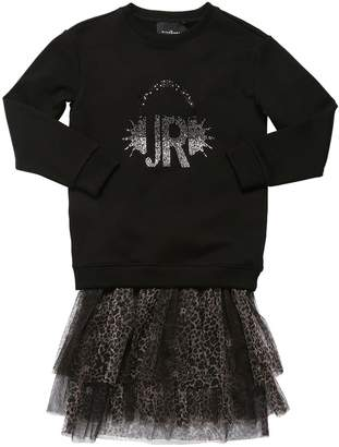 John Richmond LEO PRINT TULLE DRESS & MAXI SWEATSHIRT