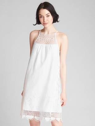 Gap Crochet Cami Dress in Linen-Cotton