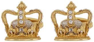 Dolce & Gabbana Gold King Cufflinks