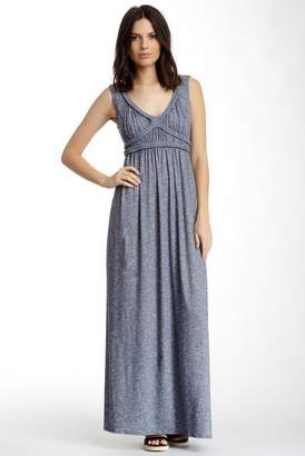 Max Studio Braided Trim Slub Maxi Dress