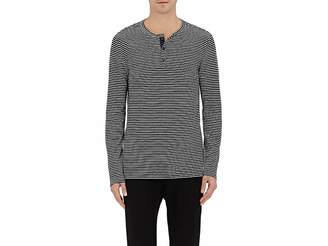 Onia MEN'S MILES STRIPED LINEN-BLEND HENLEY