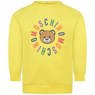 Moschino MoschinoYellow Teddy Baby Sweatshirt