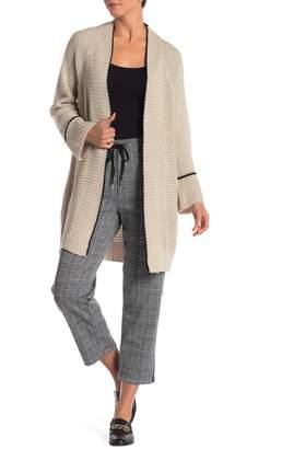 Modern Designer Tipped Twist Cardigan