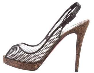 Christian Louboutin Mesh High-Heel Sandals