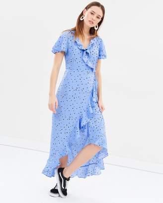 Vero Moda Henna Wrap Maxi Dress