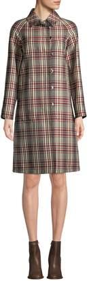 Derek Lam Women's Collared Plaid Trench Coat