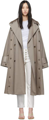 BEIGE Rokh Oversized Trench Coat
