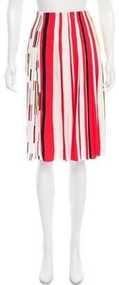 Prada Striped Pleated Skirt w/ Tags