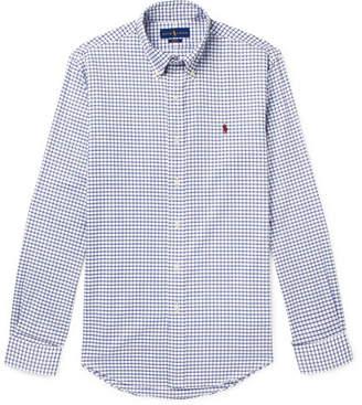 Polo Ralph Lauren Slim-Fit Button-Down Collar Checked Cotton-Poplin Shirt