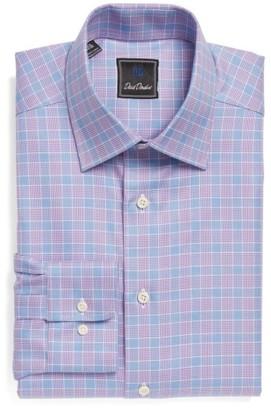 Men's David Donahue Regular Fit Plaid Dress Shirt $135 thestylecure.com