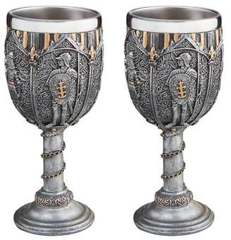 Toscano Design Legion of the King's Knights Royal Gothic Goblet: Set of Two