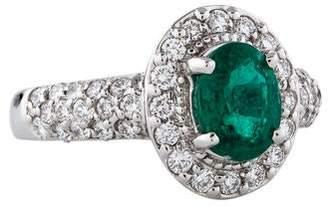 Takat 18K Emerald & Diamond Cocktail Ring