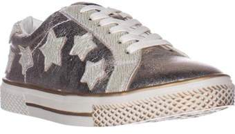 Bebe Destine Lace Up Fashion Sneakers, Rose/white.