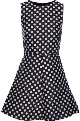 RED Valentino Flared Polka-Dot Jacquard Mini Dress