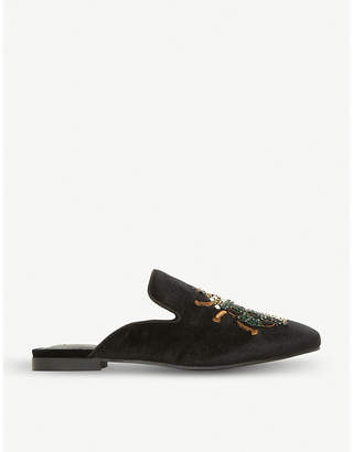 Steve Madden Hugh beetle motif backless loafers