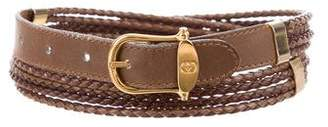 Gucci Braided Leather Buckle Belt