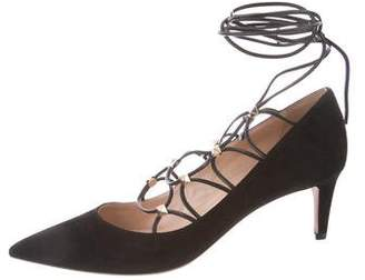 Valentino Lace-Up Rockstud Pumps